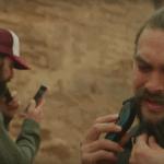 Jason Momoa shaving beard